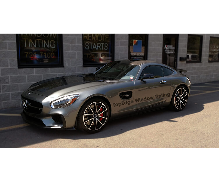 Mercedes Benz AMG GTS with 40% tint on all windows