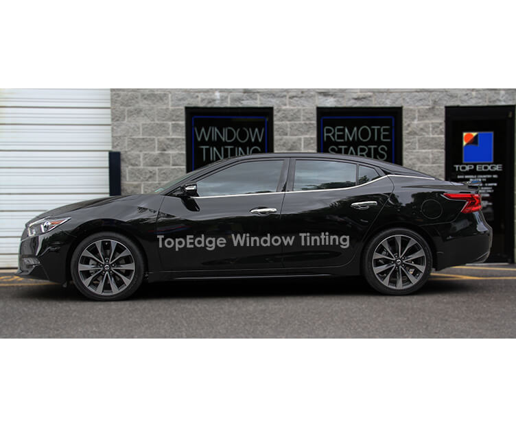Black Nissan Maxima with 40% window tint