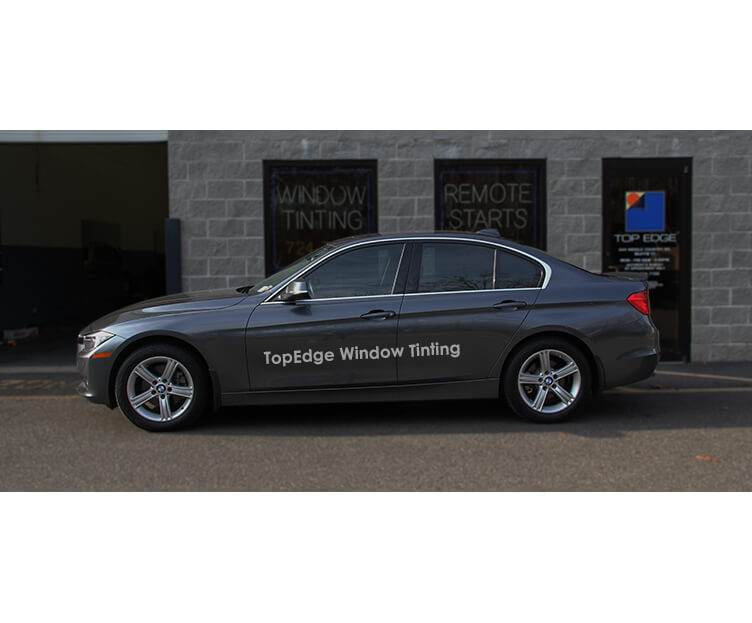 Gray BMW 3 Series 328i with 40% tint