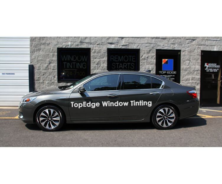 Gray Honda Accord with 40% window tint