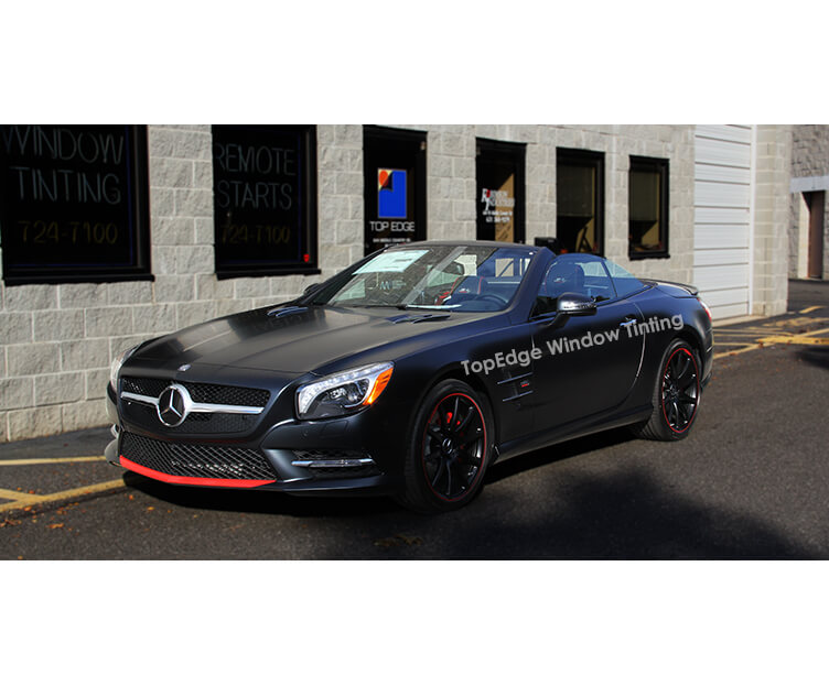 Matte Metallic Mercedes Benz SL with 50% tint
