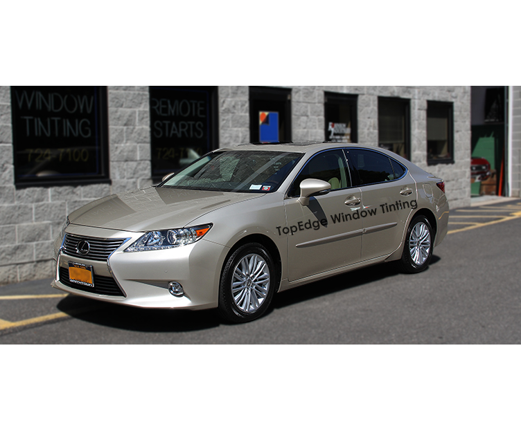 Beige Lexus ES with 50% tint for the front windows with 40% back windows and rear