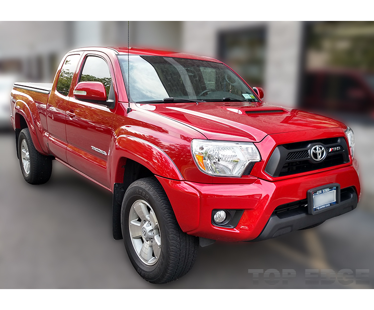 Red Toyota Tacoma protected with Paint Protection Film